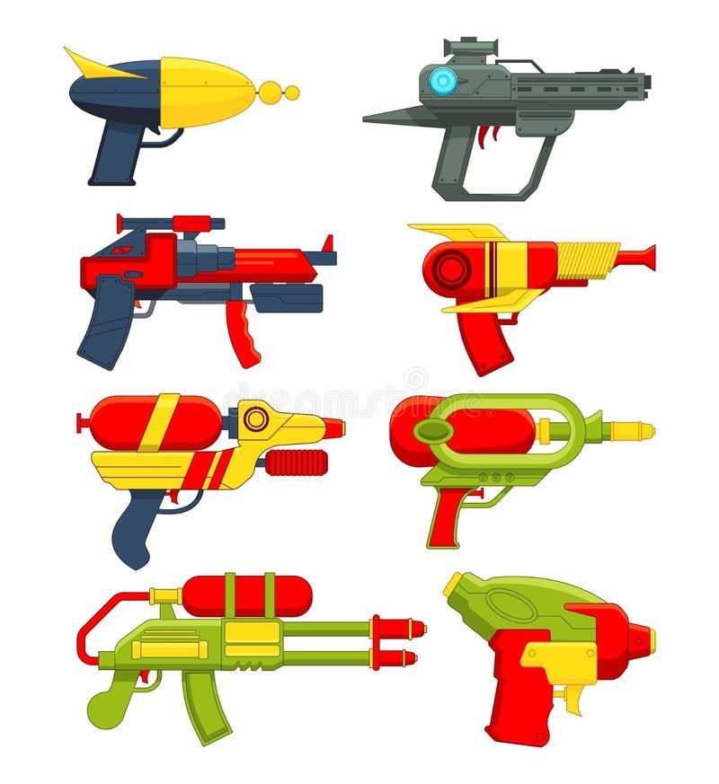 Pistole a acqua Giocattoli delle armi per i bambini royalty illustrazione gratis