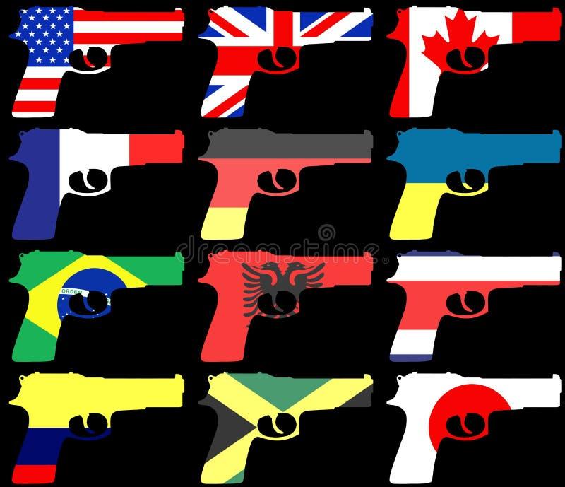 Pistole della bandiera illustrazione vettoriale