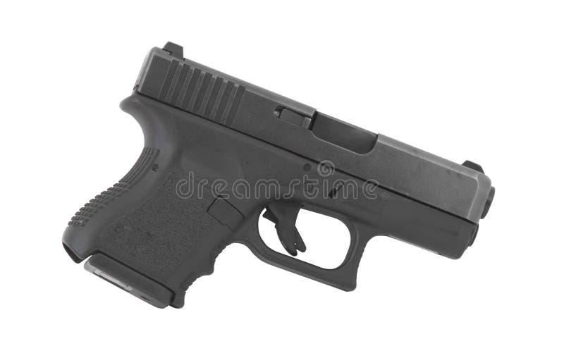 Pistole lokalisiert auf weißem Hintergrund-Recht stockfoto