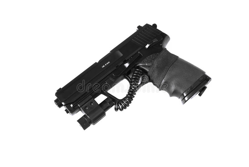 Pistole mit Laser-Anblick lizenzfreie stockbilder