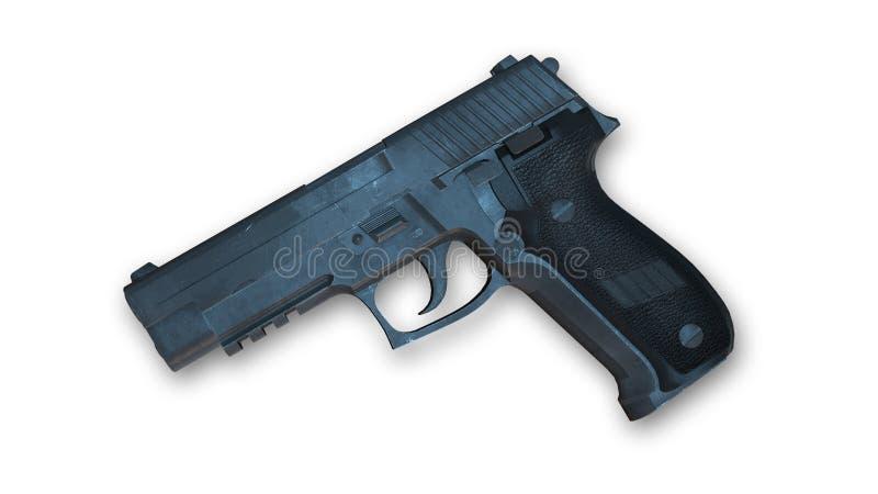 Pistole, Waffe lokalisiert auf Weiß vektor abbildung