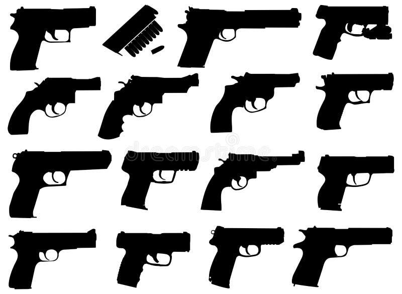 Pistolen vector illustratie