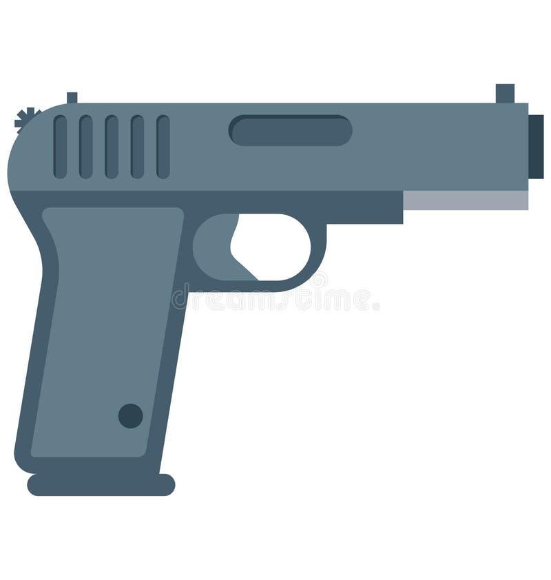 Pistolen-Farbe lokalisierte Vektor-Ikone, die leicht geändert werden und redigieren kann stock abbildung