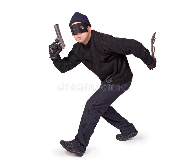 Pistolenheld stockbild