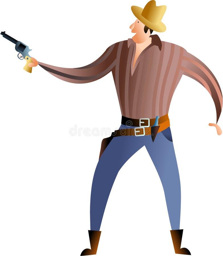 Pistolenheld lizenzfreie abbildung