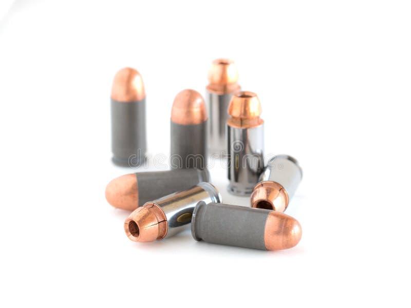 45 Pistolenkugeln stockfotografie