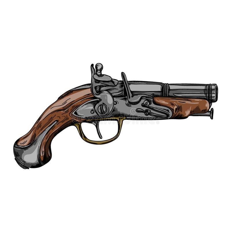 Pistolenwaffenweinlese stockfotos