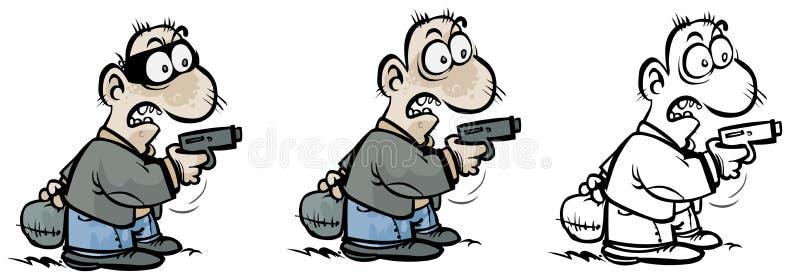 Pistolero en diversas variantes. libre illustration
