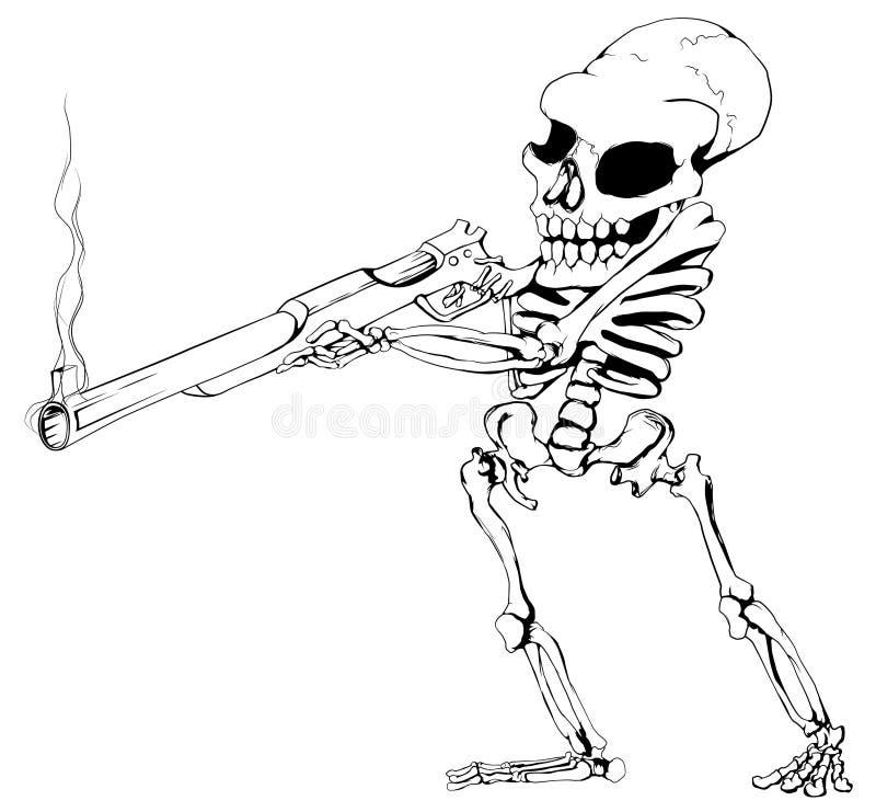 Pistolero esquelético libre illustration