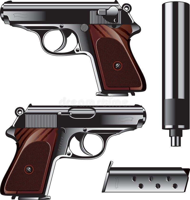 Pistolet allemand illustration de vecteur