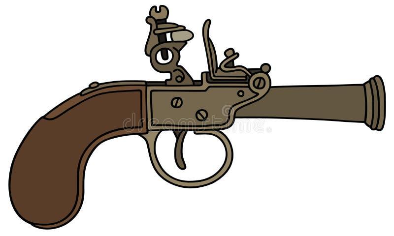 Pistolet antique de percussion illustration stock