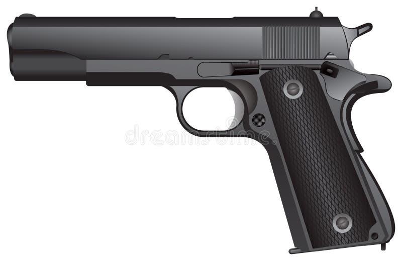Pistolet automatique illustration stock