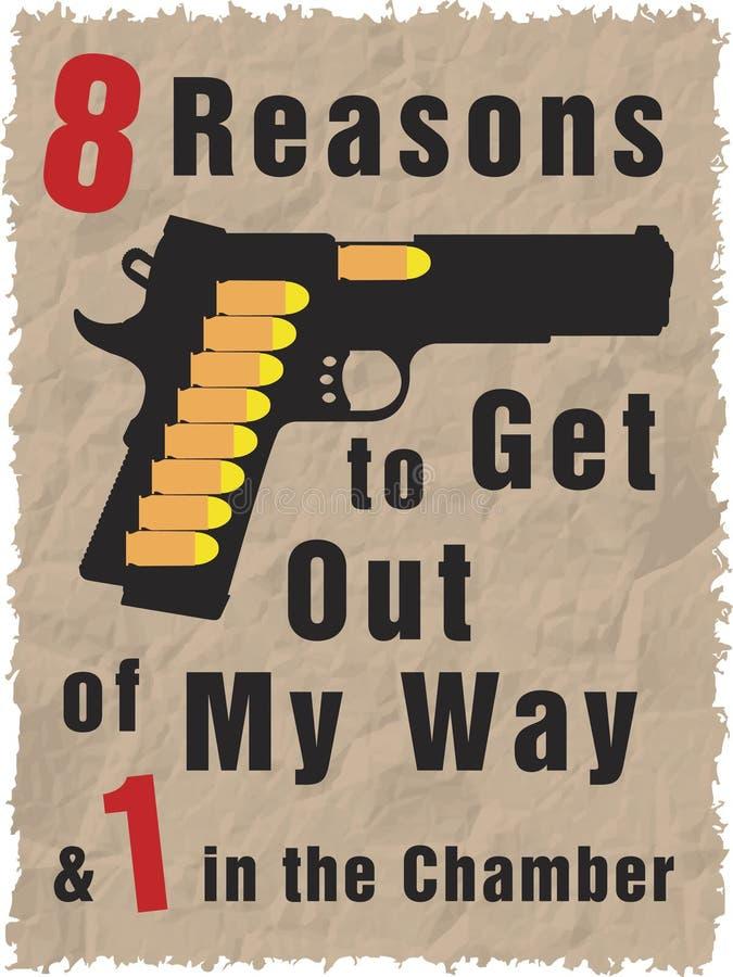 Pistolet complètement des remboursements in fine illustration stock
