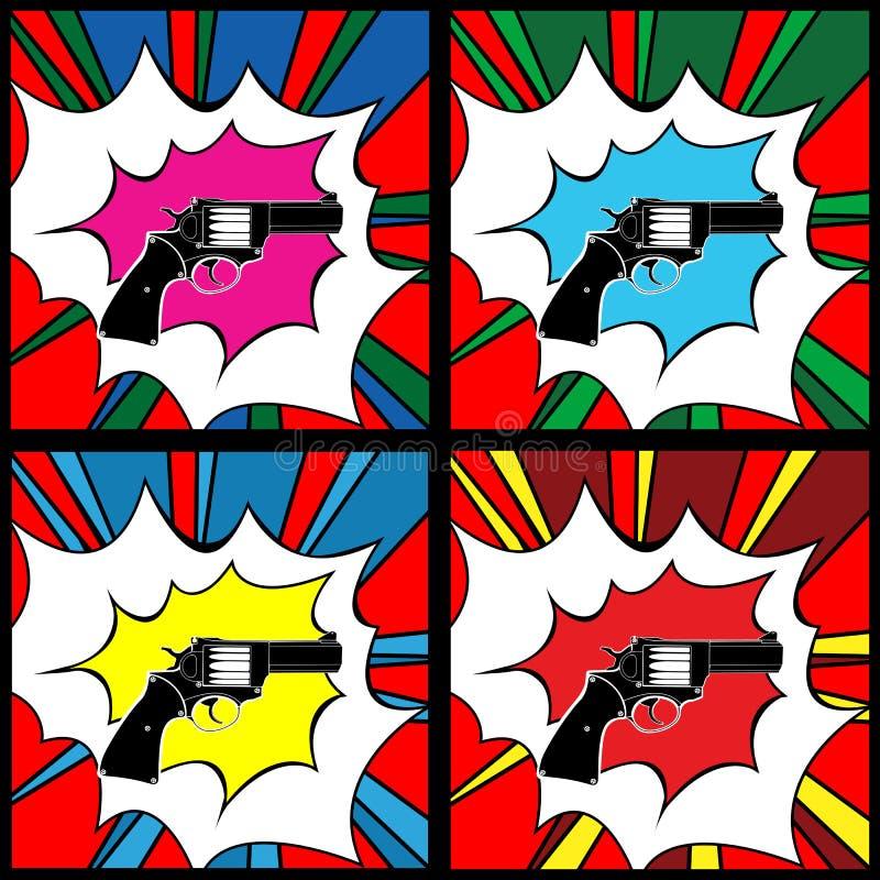 Pistolet d'art de bruit illustration de vecteur