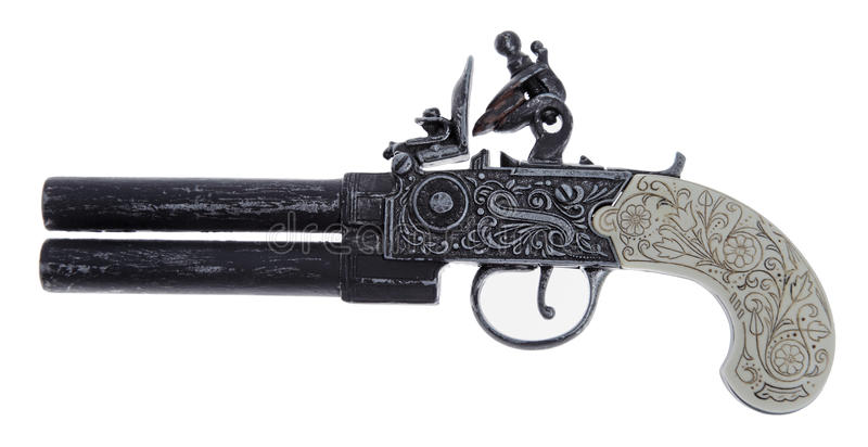 Pistolet de duel antique images libres de droits