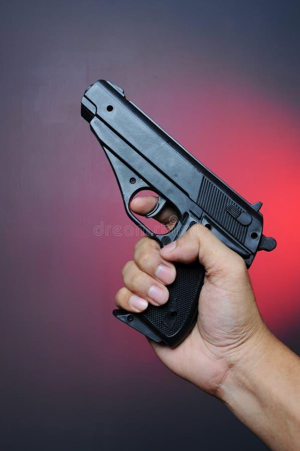 Pistolet de fixation de main photographie stock libre de droits