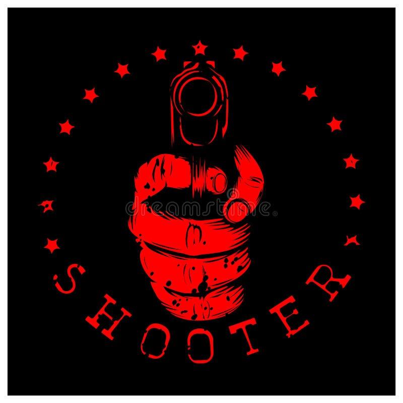 Pistolet de fusil illustration libre de droits