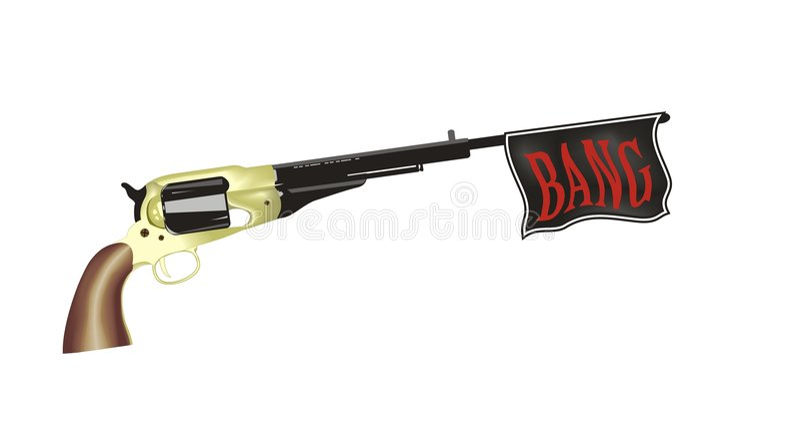Pistolet de jouet illustration de vecteur