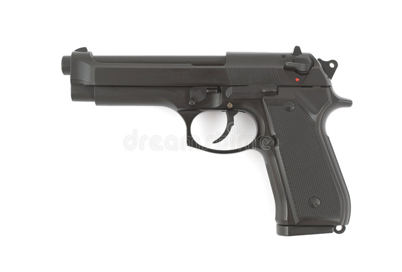 pistolet kaliber 9 mm, obraz royalty free