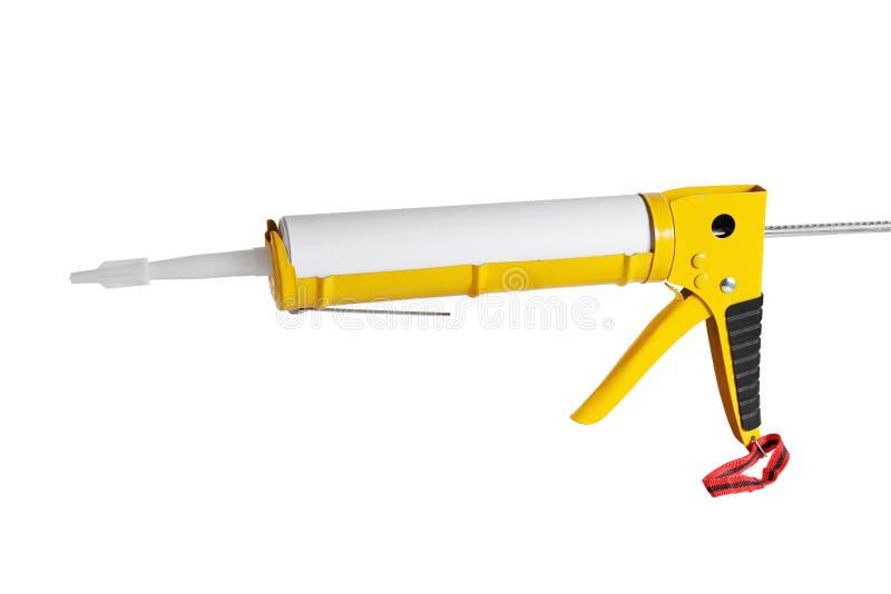 Pistolet montażowy do uszczelniania zdjęcia royalty free