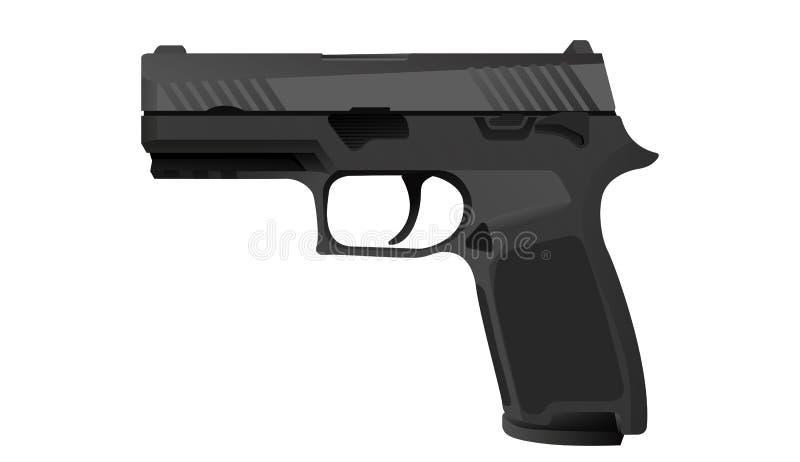 pistolet royalty ilustracja