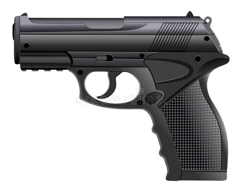 Pistolet puissant, arme à feu, pistolet, illustration de vecteur illustration libre de droits