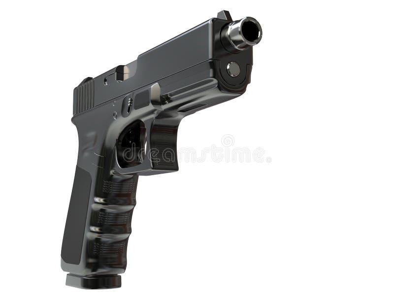 Pistolet tactique moderne semi-automatique - vue de face illustration libre de droits