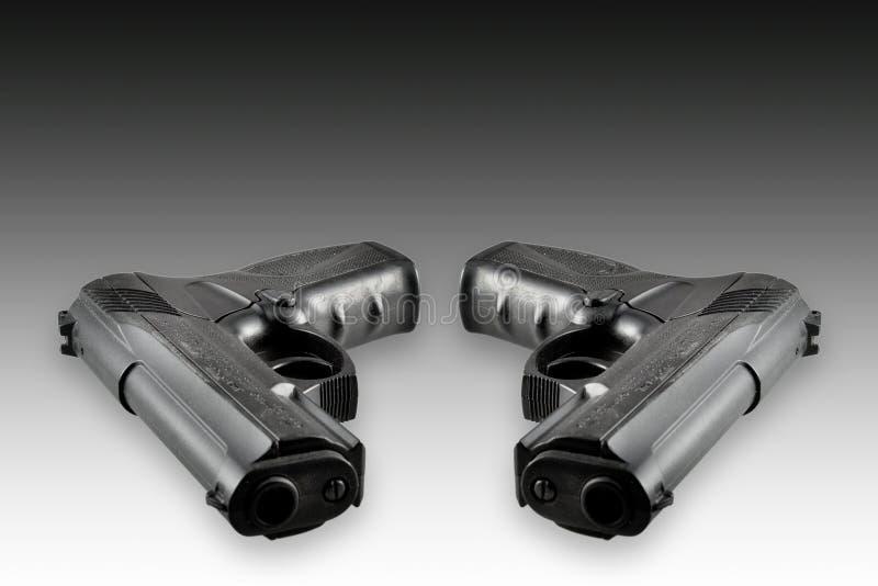 pistolety dwa fotografia stock