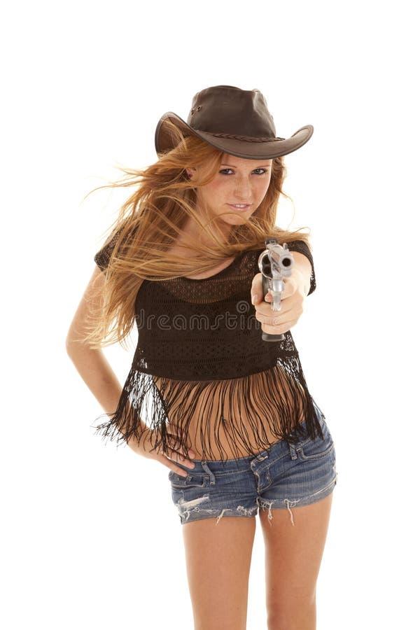 pistolhot arkivfoton