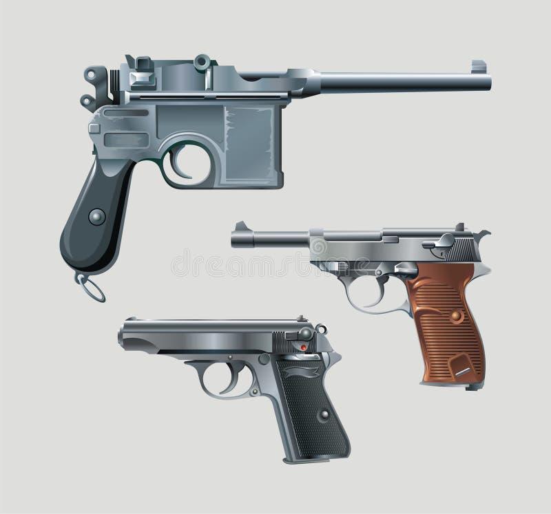 Download Pistols stock vector. Image of artwork, gunman, mauser - 10332876