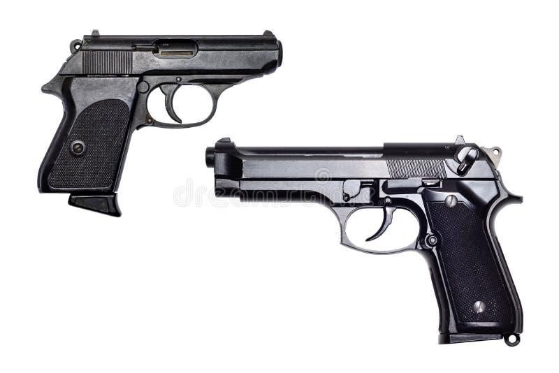 Pistolvapen på vit bakgrund royaltyfri bild