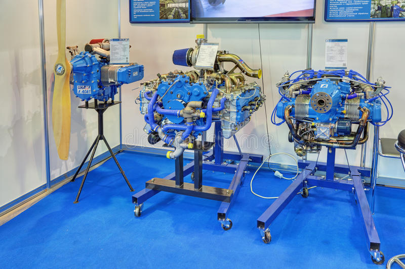 Piston aircraft engines stock images