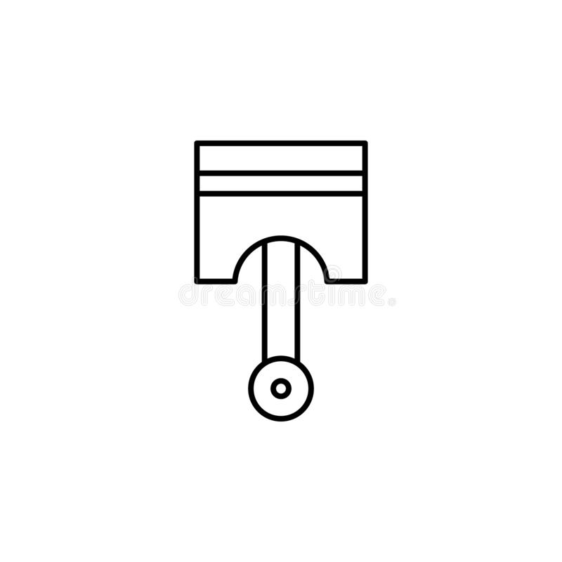Piston, car outline icon. Can be used for web, logo, mobile app, UI, UX stock illustration