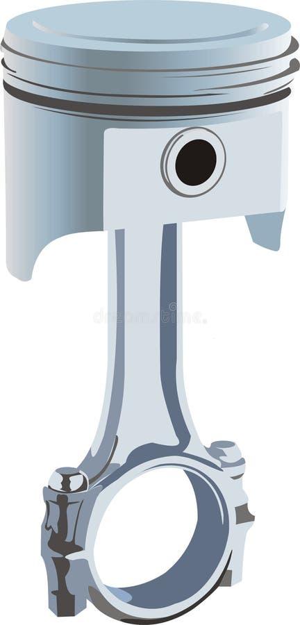 Piston d'engine de la combustion interne illustration libre de droits