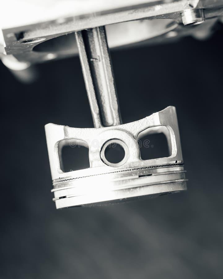 Piston de moteur, vue de plan rapproché image libre de droits