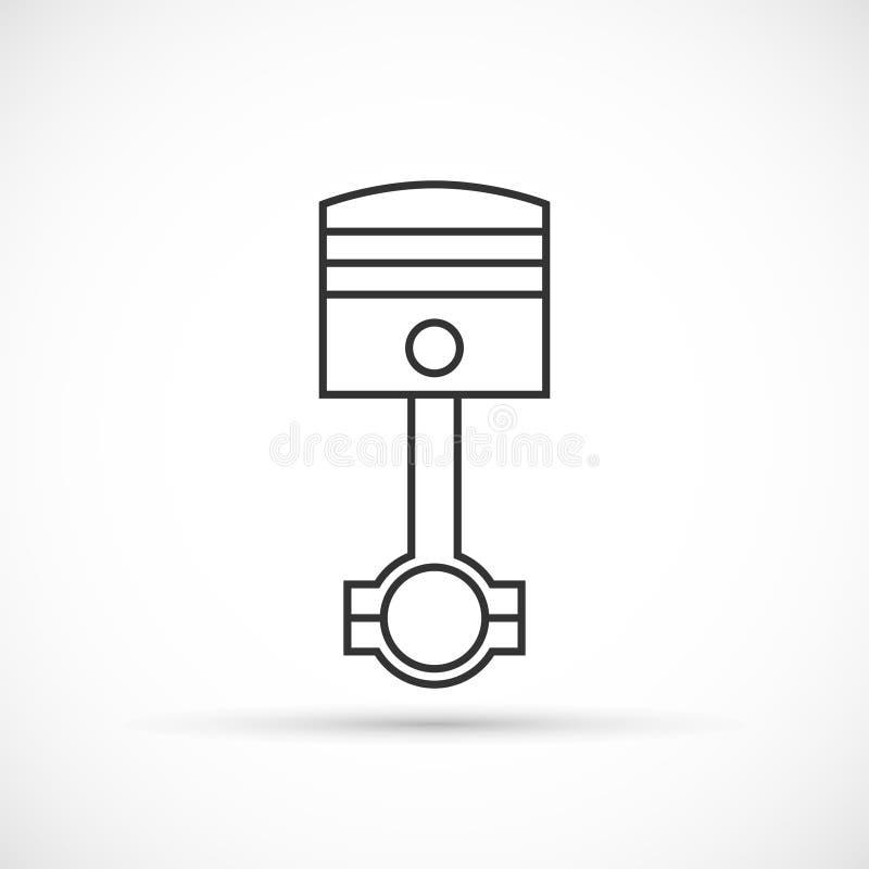 Piston Engine Outline Icon Stock Vector Illustration Of Flat 79558847