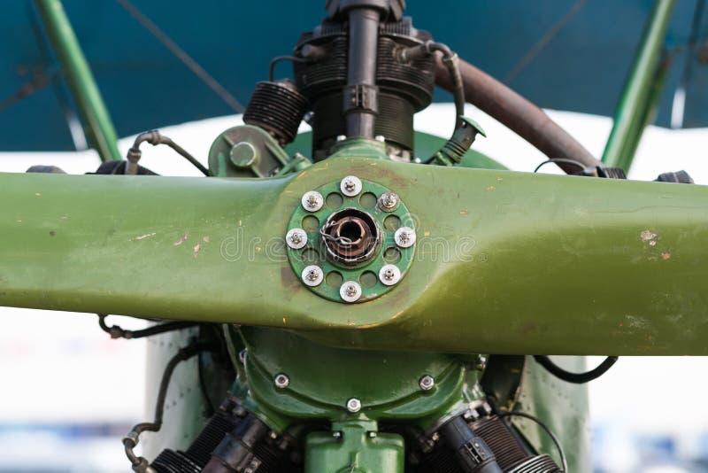 Piston engine of pre WWII Soviet Polikarpov Po-2 trainer royalty free stock image