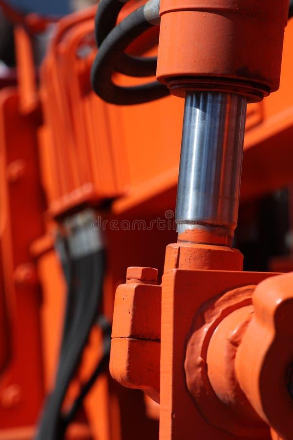 Piston hydraulique photographie stock libre de droits