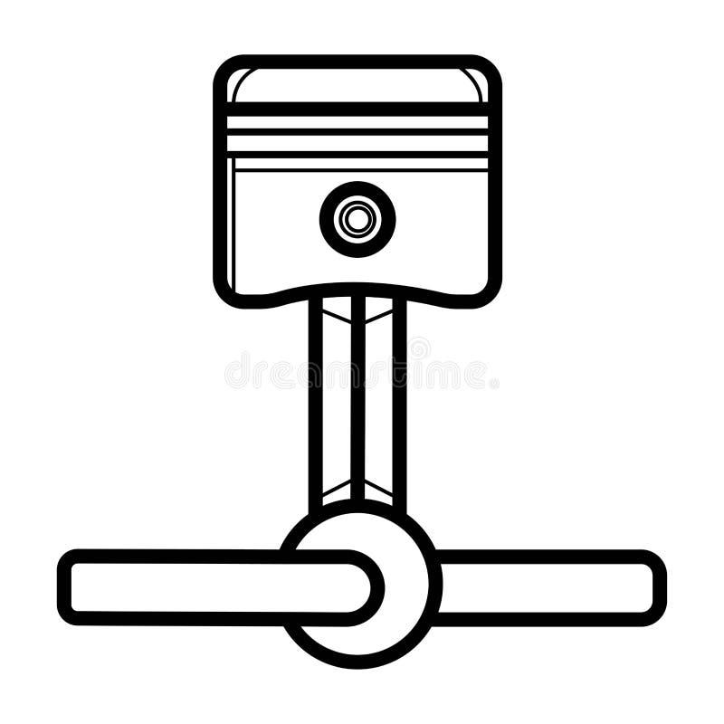 Piston icon vector vector illustration