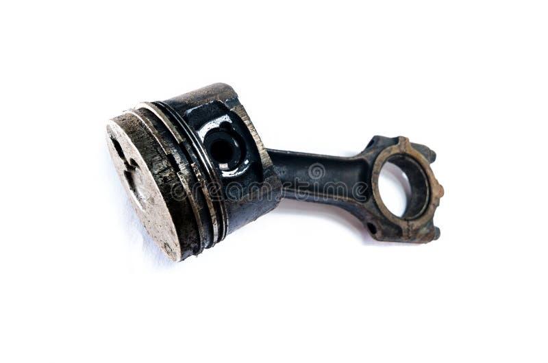 Piston utilisé de moteur photos stock