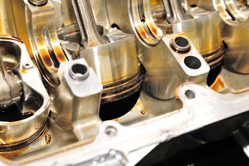 Pistones del motor. fotografía de archivo