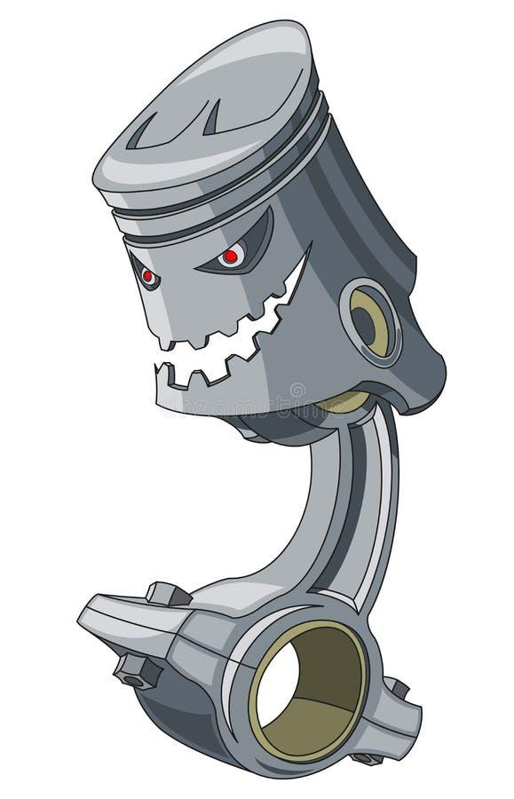 Pistong royaltyfri illustrationer
