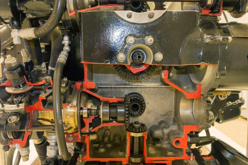 Pistongflygplanmotor royaltyfri fotografi