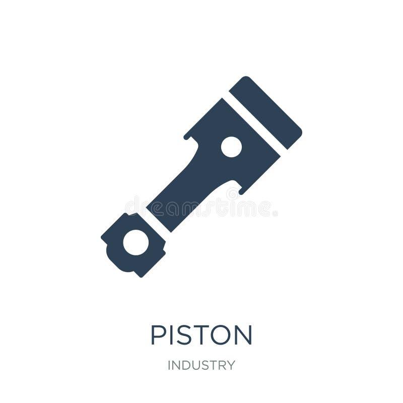 pistongsymbol i moderiktig designstil pistongsymbol som isoleras på vit bakgrund enkelt och modernt plant symbol för pistongvekto vektor illustrationer