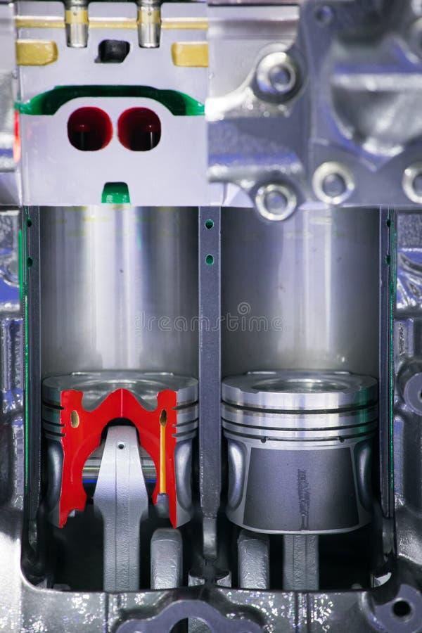 Pistoni del motore di automobile fotografia stock