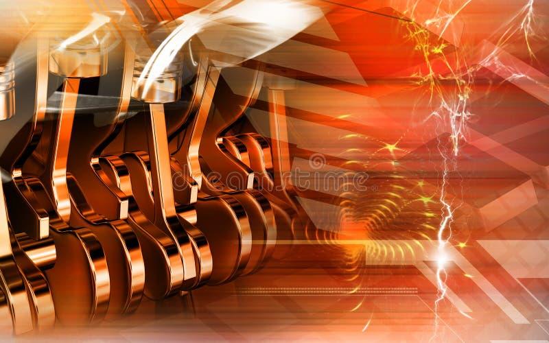 Download Pistons stock illustration. Image of five, crank, digital - 8472360