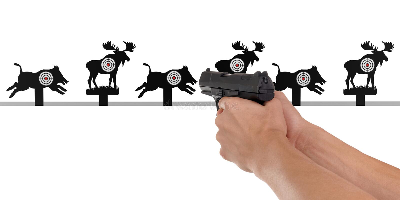 pistool stock afbeeldingen