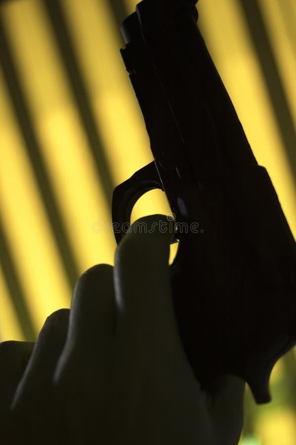 Pistool automatisch pistool stock foto's
