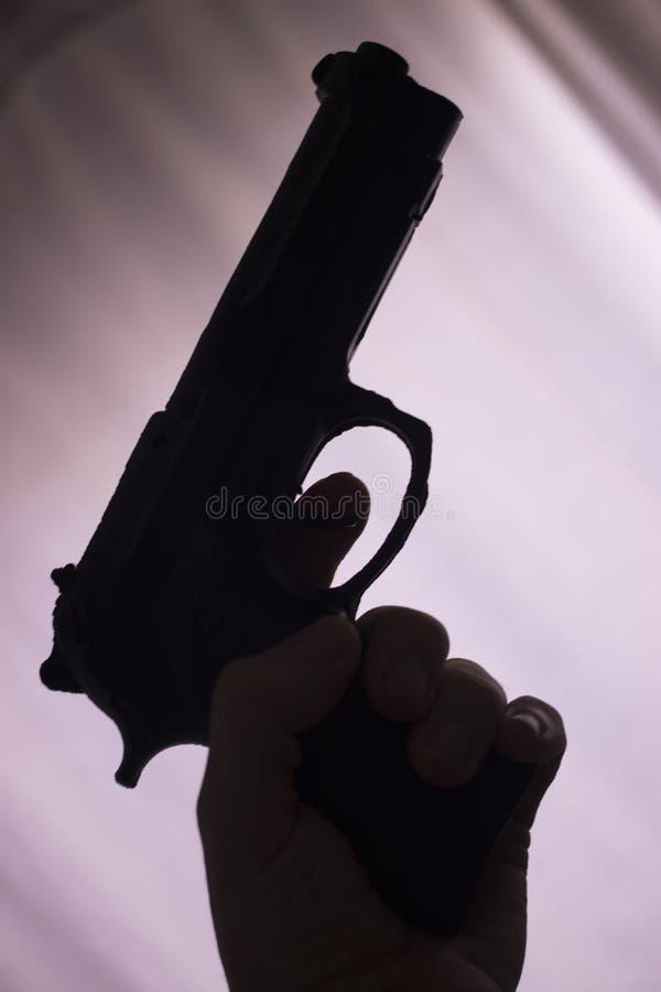 Pistool automatisch pistool stock afbeeldingen