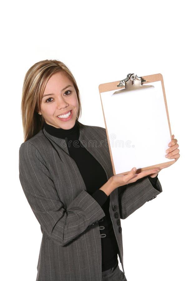 piszę biznesowej kobieta zdjęcie stock